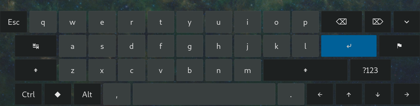 After GNOME extension improve onscreen keyboard