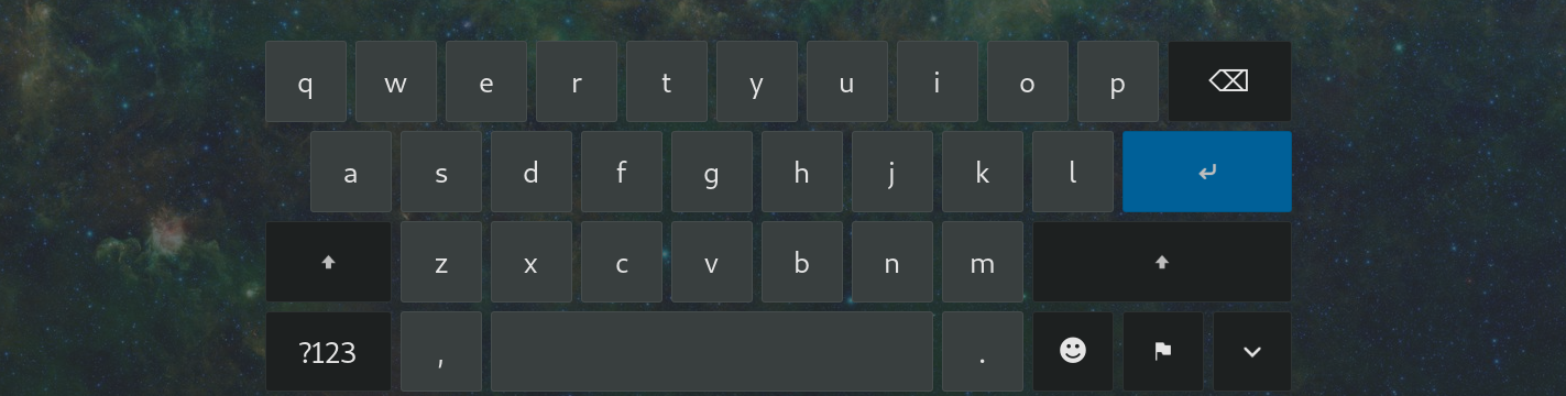 Before GNOME extension improve onscreen keyboard